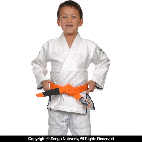 "93brand ""Future Champs"" Kids BJJ Gi - White"