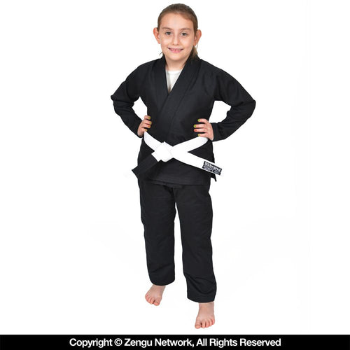 "93brand ""Standard Issue"" V1.2 Children's BJJ Gi - Black"