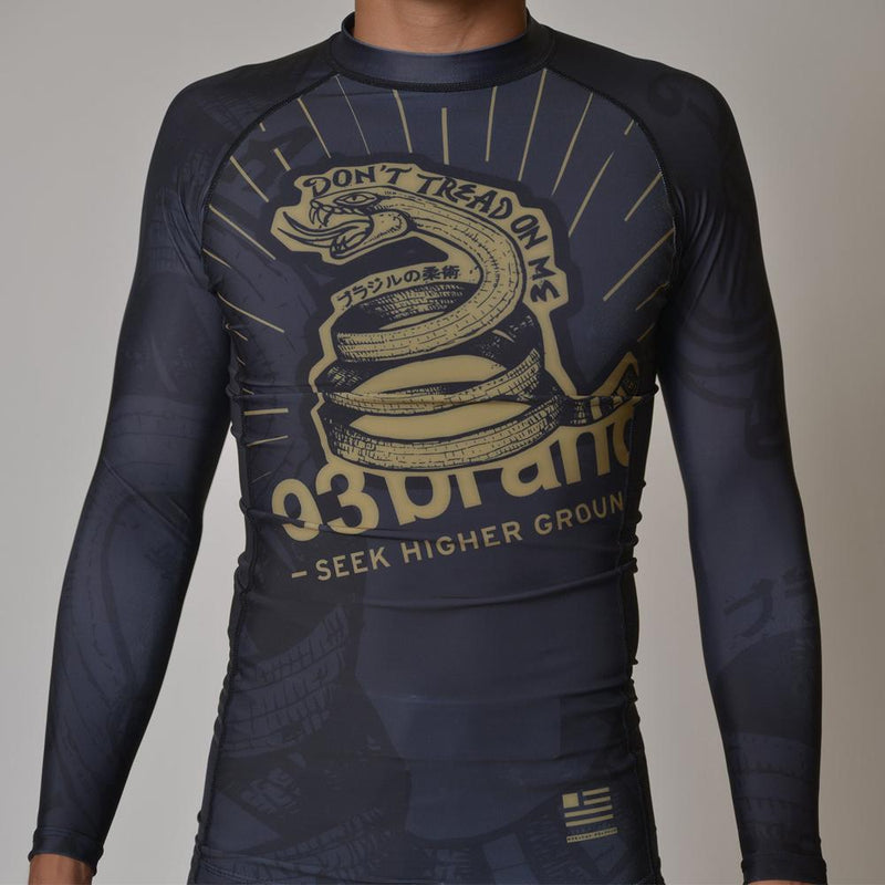 "93brand ""Strong Snake"" Long Sleeve Rash Guard"