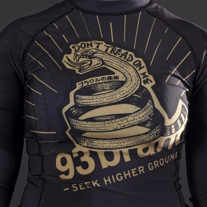 "93brand ""Strong Snake"" Long Sleeve Women's Grappling Rash Guard"