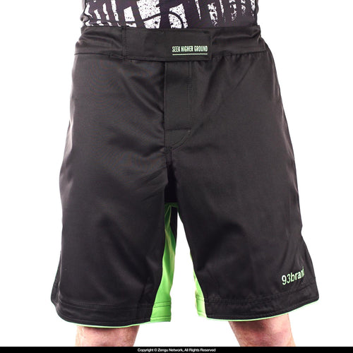 "93brand ""Standard Issue"" IBJJF Shorts - Black/Green"