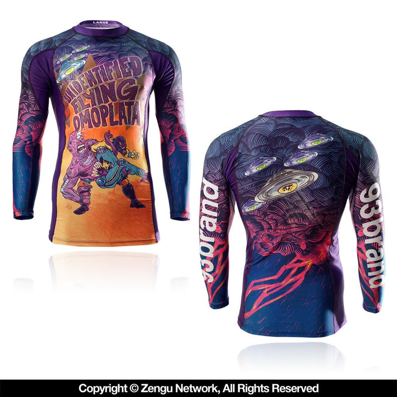 "93brand ""UFOmoplata"" 7/8 Sleeve Rash Guard"