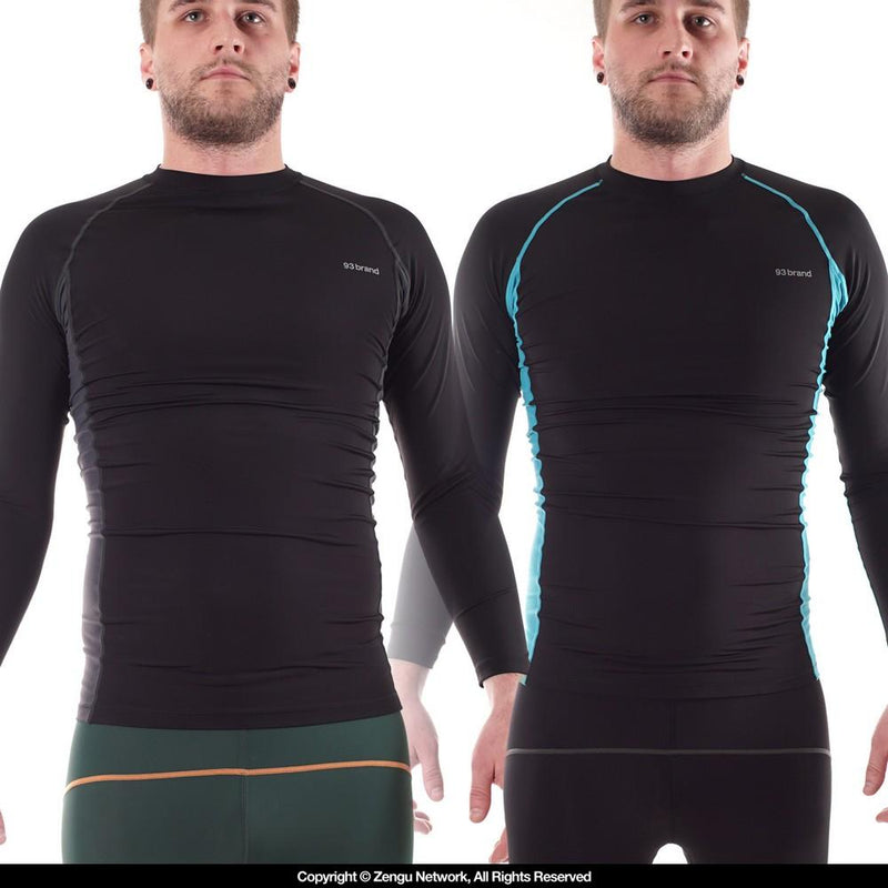 93brand Standard Issue Rash Guard 2-Pack (Black, Tron)