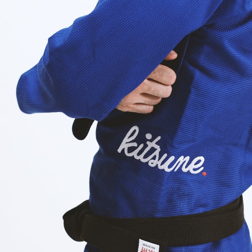 "Kitsune ""Cursive"" Heavy Duty Blue BJJ Gi - Men's"