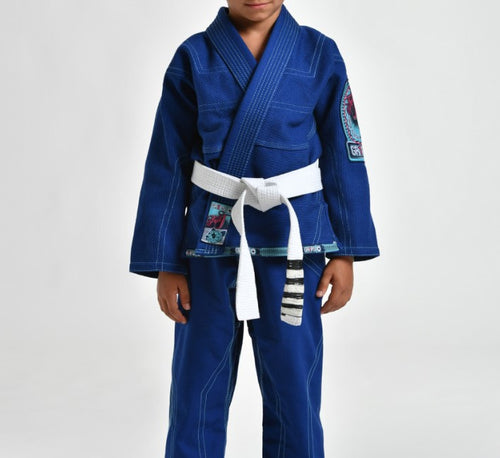 "Grips ""Triple J"" Children's BJJ Gi - Blue"