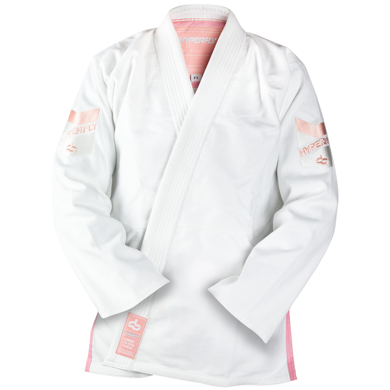 "Hyperfly ""Premium 3.0"" Women's BJJ Gi - White w/ Rose Quartz"