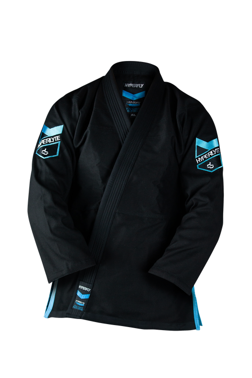 "Hyperfly ""Hyperlyte"" BJJ Gi - Black/Ice Blue"