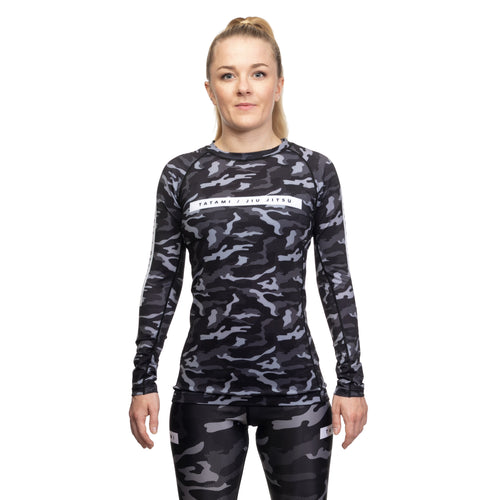 Tatami Rival Women's Long Sleeve Rashguard - Black & Camo
