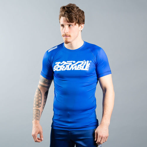 "Scramble ""Shiai"" Rash Guard - Blue"