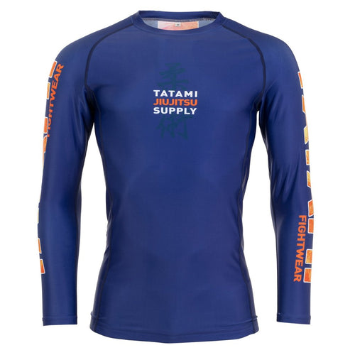 Tatami Tropic Long Sleeve Rash Guard - Navy