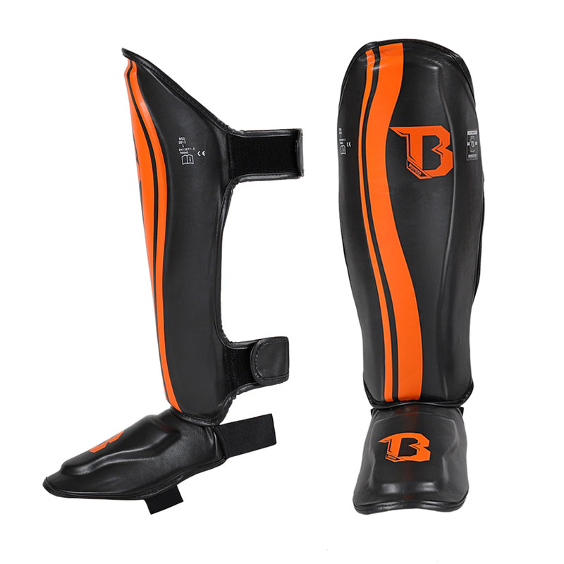 Booster Muay Thai Shin Guards - Black/Orange