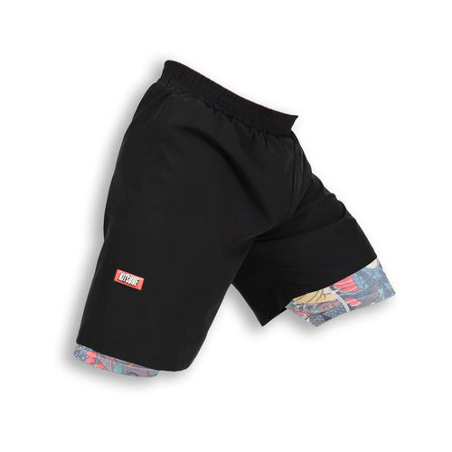 "Kitsune ""Heroes"" Compression Hybrid Shorts"