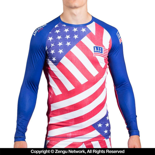 "American Jiu Jitsu ""Flag"" Rash Guard"