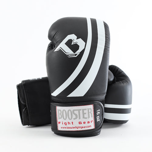 "Booster ""Pro V2"" Boxing Gloves - Black/White"