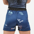 "93brand ""Splatter V2"" Navy Blue Women's Shorts"