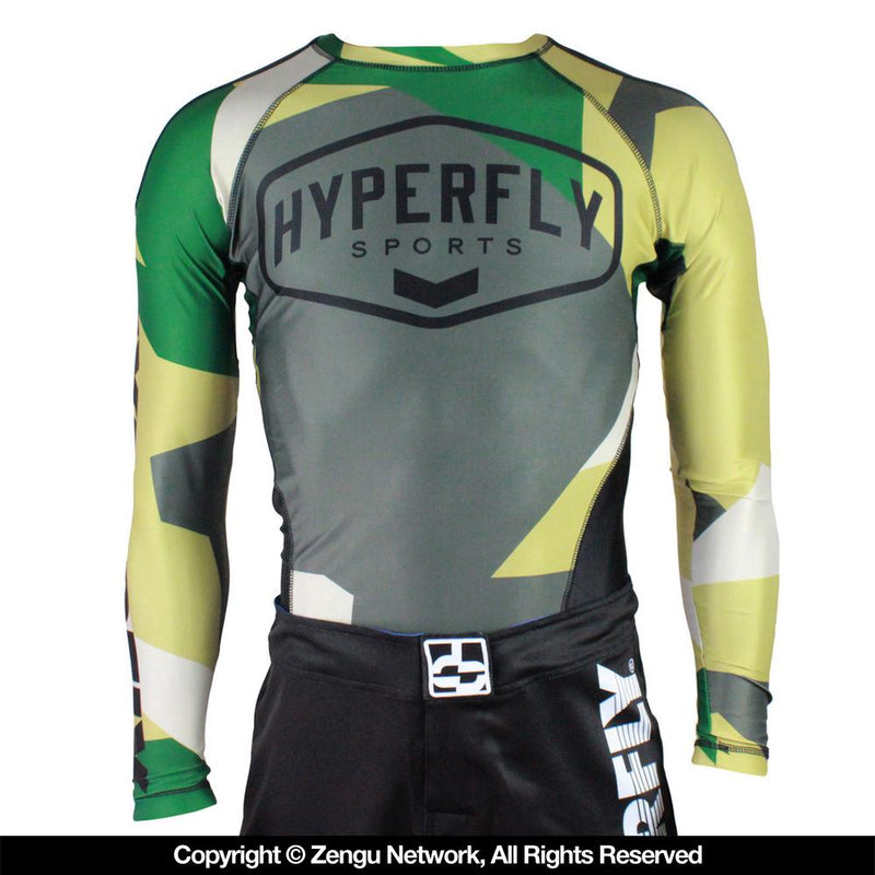 Hyperfly Logo Camo Rash Guard Long Sleeve