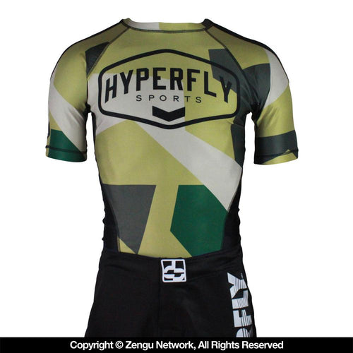 Hyperfly Camo Rash Guard - Short Sleeve
