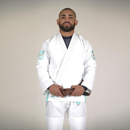 Hyperlyte BJJ Gi - White/Tiffany