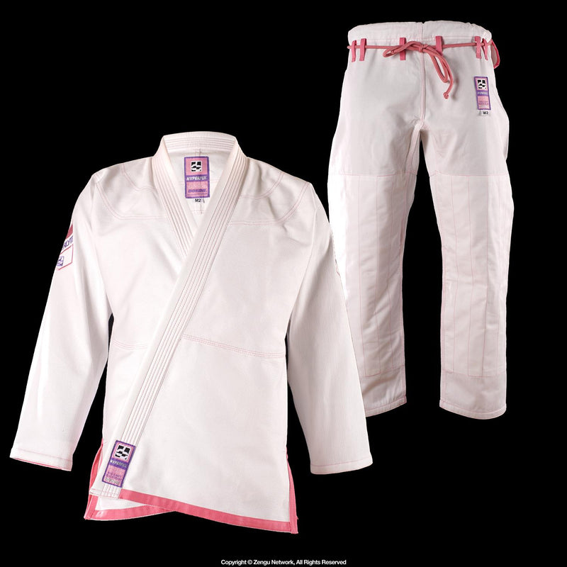 Hyperfly Children's Jiu Jitsu Gi - White/Pink