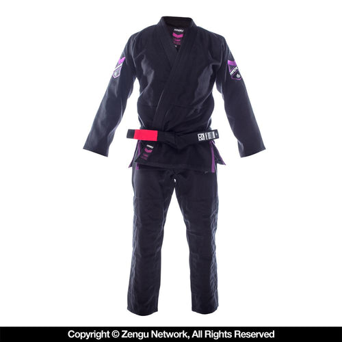 Hyperfly HyperLyte Black BJJ Gi - Purple Trim