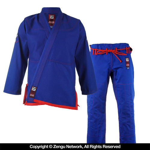 "Hyperfly ""Hyperlyte"" Blue/Burgundy BJJ Gi"