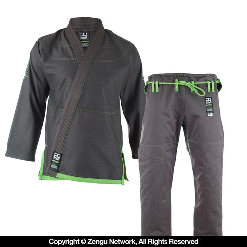 "Hyperfly ""Hyperlyte"" Grey/Neon Green BJJ Gi"