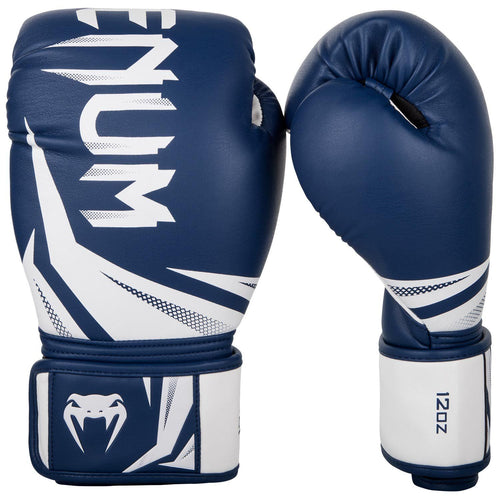 Venum Challenger 3.0 Boxing Gloves - Navy Blue/White
