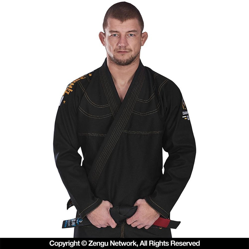 "Ground Game ""Champion"" BJJ Gi - Black"