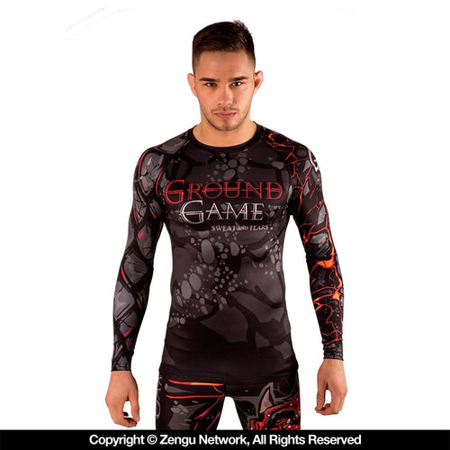 "Ground Game ""Sweat & Tears"" Rash Guard"