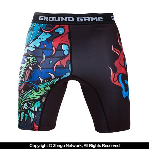 "Ground Game ""Black Dragon"" Compression Shorts"