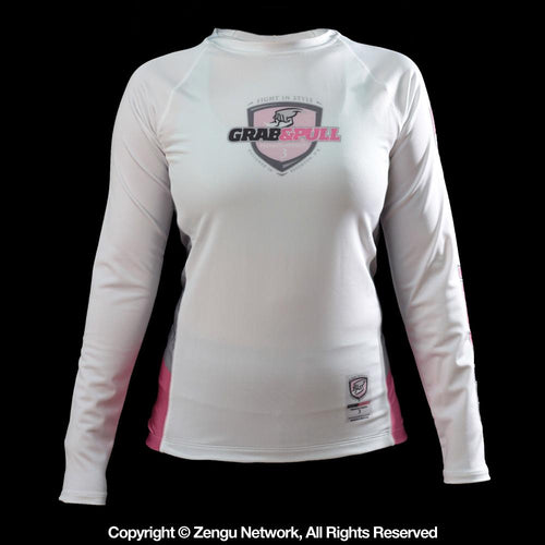Grab and Pull Pink Women's Rash Guard