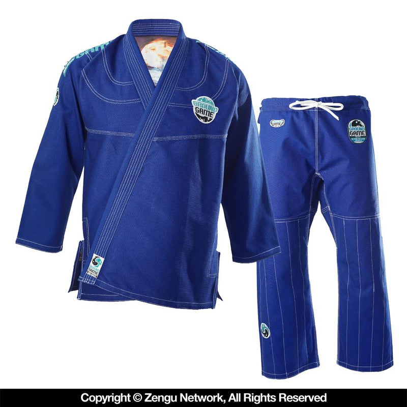 "Ground Game ""Balance"" Blue BJJ Gi with 2 Pairs of Pants"