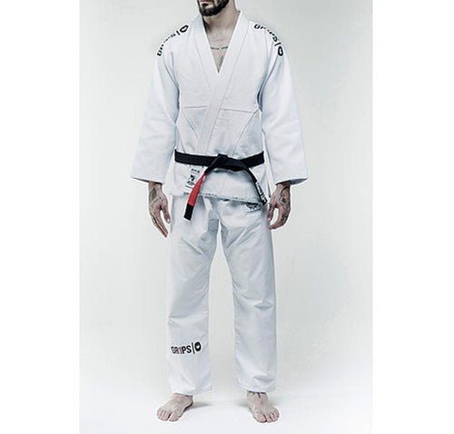 "Grips ""Secret Weapon Evo"" White BJJ Gi"
