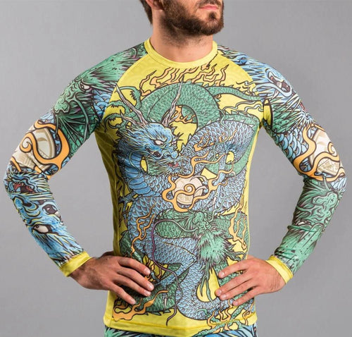 "Meerkatsu ""Colliding Dragons"" Rash Guard"