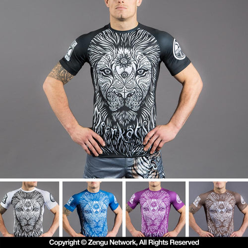 "Meerkatsu ""War Lion"" Ranked IBJJF Rash Guards"