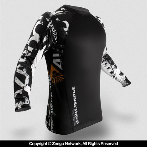 "PunchTown ""Apocalypse"" Long Sleeve Rash Guard"