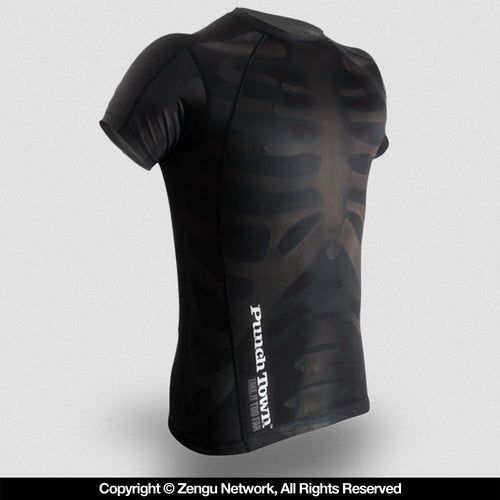 "PunchTown ""Fracture"" Short Sleeve Rash Guard"