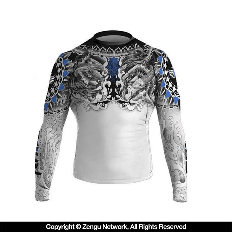"Raven ""Battle Fish"" Women's Rash Guard"