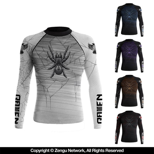 "Raven ""Funnel Web"" Ranked Women's Rash Guard"