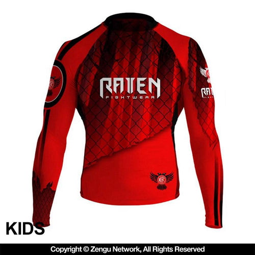 "Raven ""Red"" Junior Rash Guard"