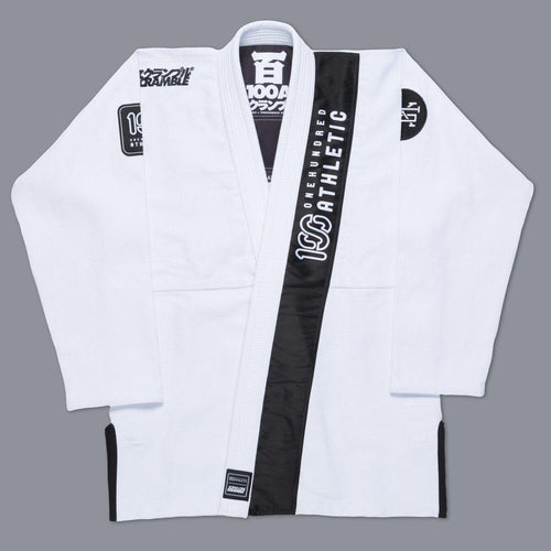 "Scramble X ""100Athletic"" BJJ Gi – White"