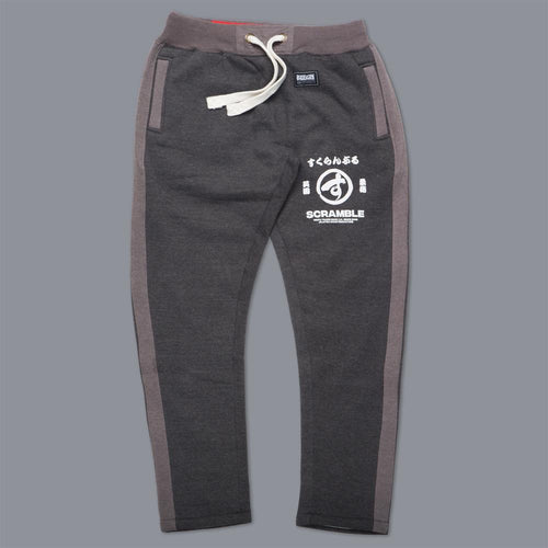 "Scramble ""Brush Logo"" Sweat Pants - Charcoal"