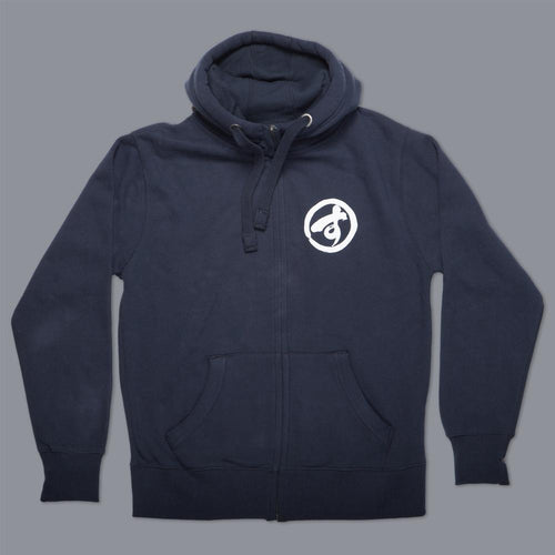 "Scramble ""Brush Logo"" Zip Hoodie - Navy"