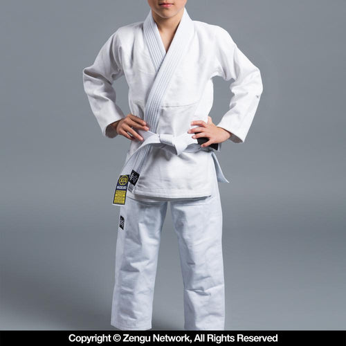 "Scramble ""Standard Issue Semi Custom"" Kids BJJ Gi - White"