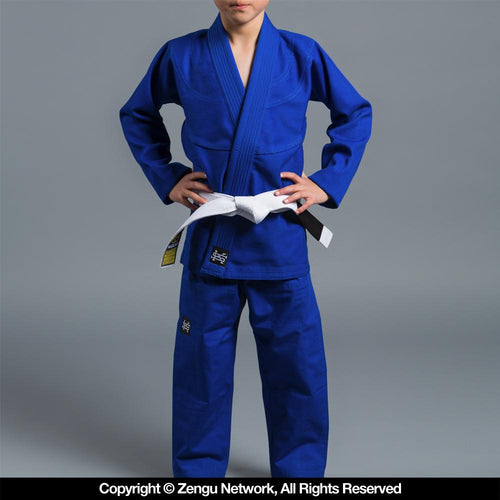 "Scramble ""Standard Issue Semi Custom"" Kids BJJ Gi - Blue"