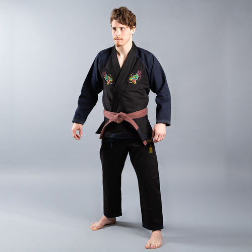 "Scramble ""Sukajan Dragon"" BJJ Gi - Blue/Black"
