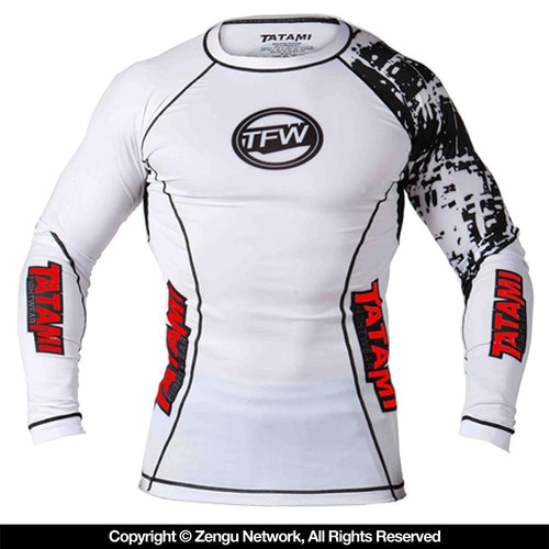 Tatami White Flex Rash Guard