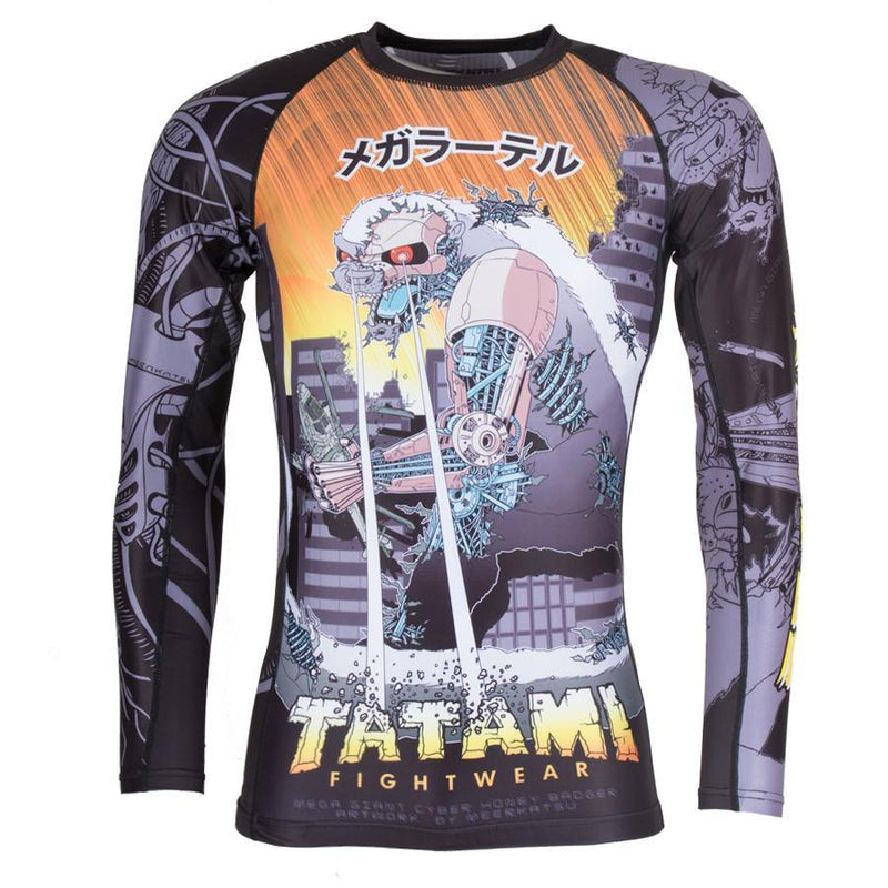 "Tatami ""Cyber Honey Badger"" Rash Guard"