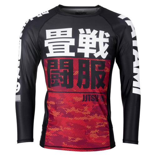 Tatami Essential Camo Children's Rash Guard - Red