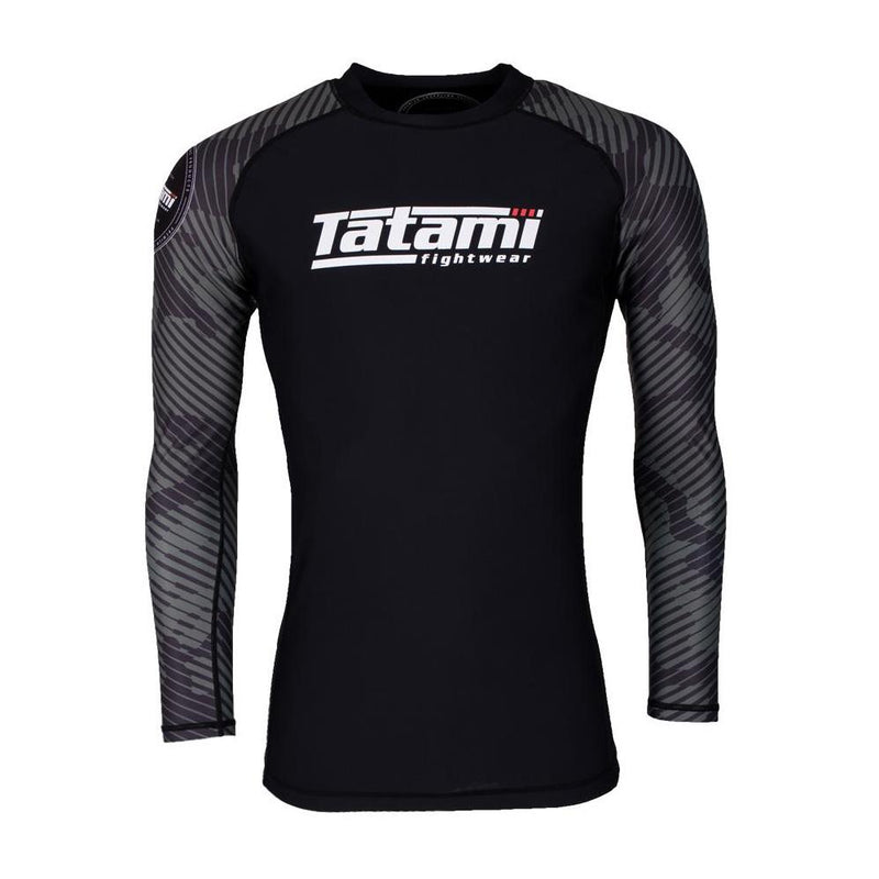 "Tatami ""Renegade"" Long Sleeve Rash Guard - Green Camo"